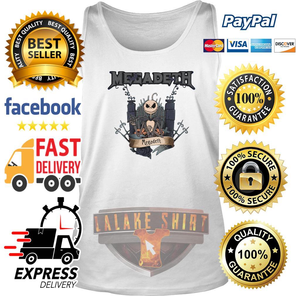 Jack Skellington Megadeth Halloween tank top