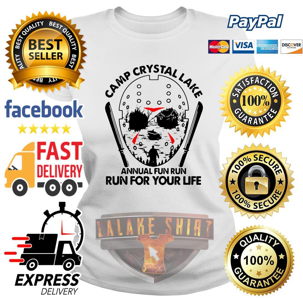 Jason Voorhees Camp crystal lake annual fun run run for your life ladies tee
