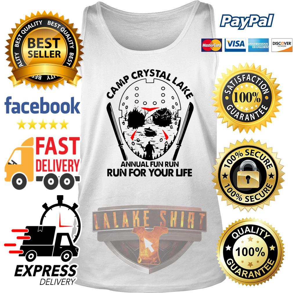 Jason Voorhees Camp crystal lake annual fun run run for your life tank top