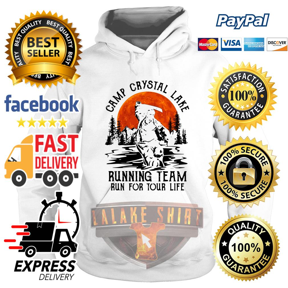 Jason Voorhees Camp crystal lake running team run for your life hoodie