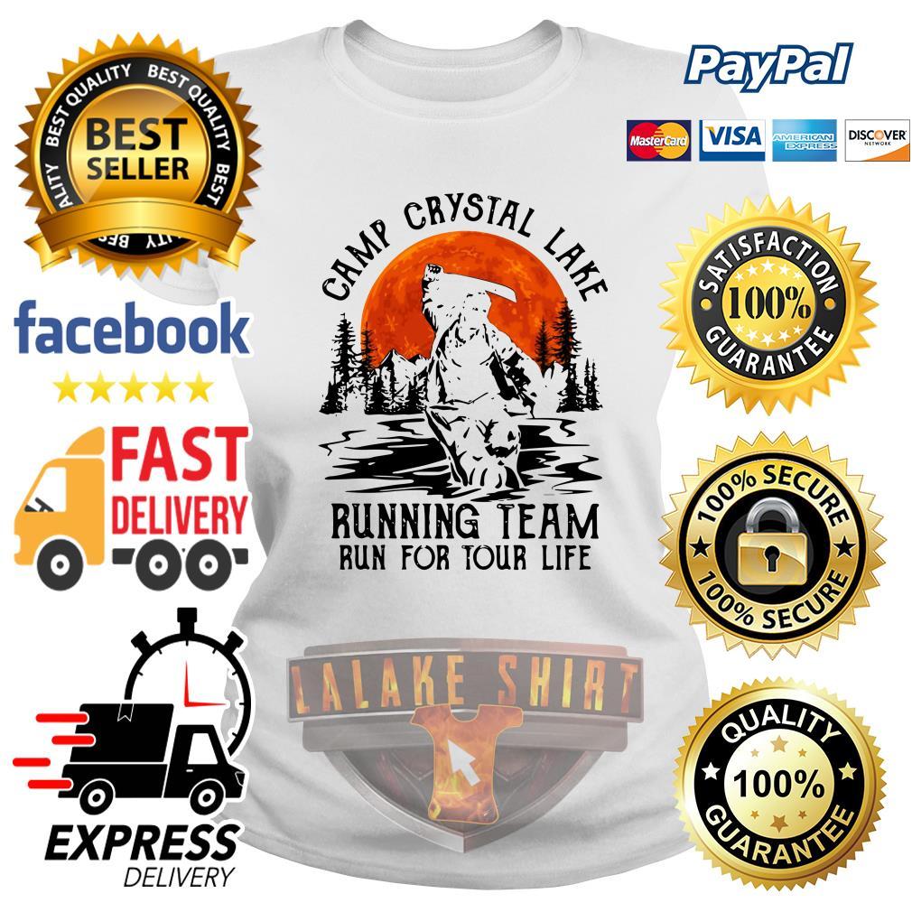 Jason Voorhees Camp crystal lake running team run for your life ladies tee