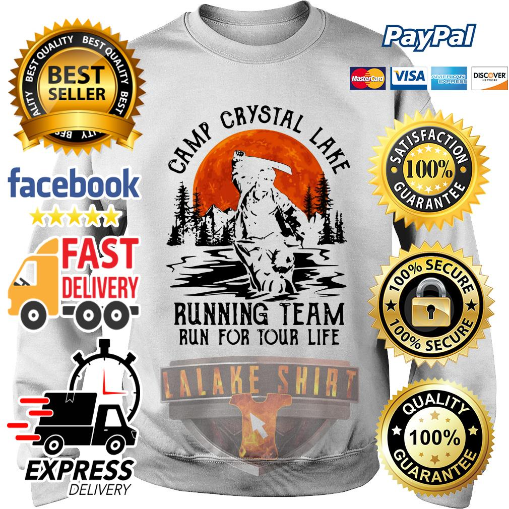 Jason Voorhees Camp crystal lake running team run for your life sweater