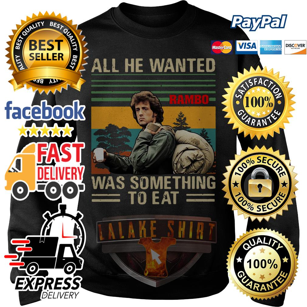 John Rambo All he wanted was something to eat vintage Sweater