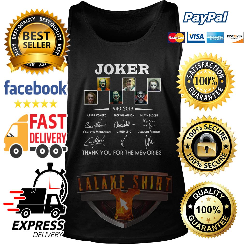 Joker 1940 2019 thank you for the memories tank top