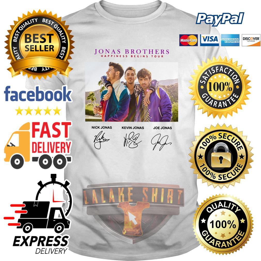 Jonas brothers happiness begins tour signature shirt