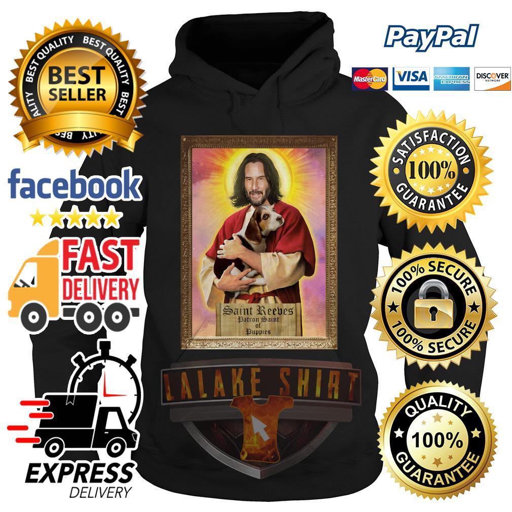 Keanu Reeves Saint Reeves patron saint of puppies hoodie