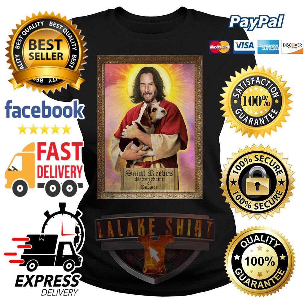 Keanu Reeves Saint Reeves patron saint of puppies ladies tee