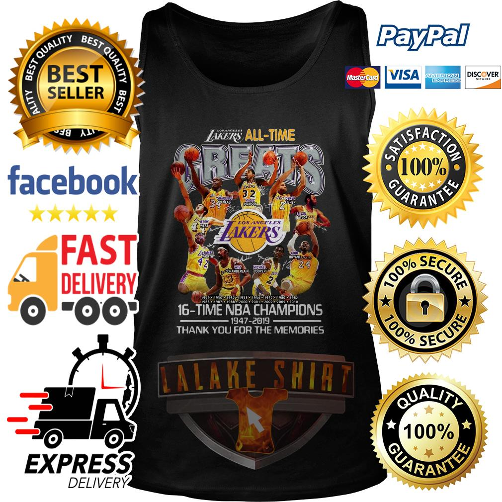 Los Angeles Lakers all time 16 time NBA champions tank top