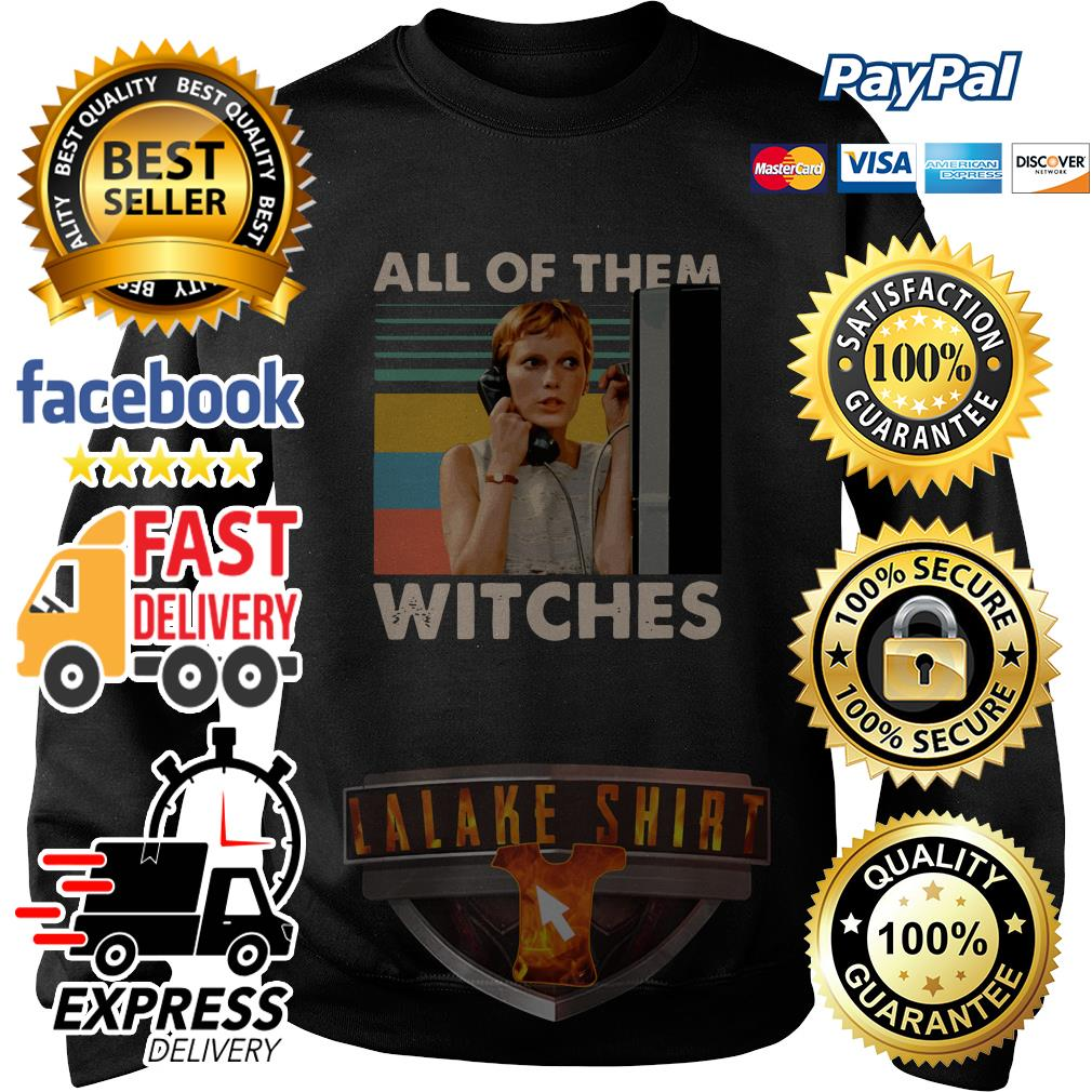 Mia Farrow in Rosemary's Baby all of them witches vintage sweater