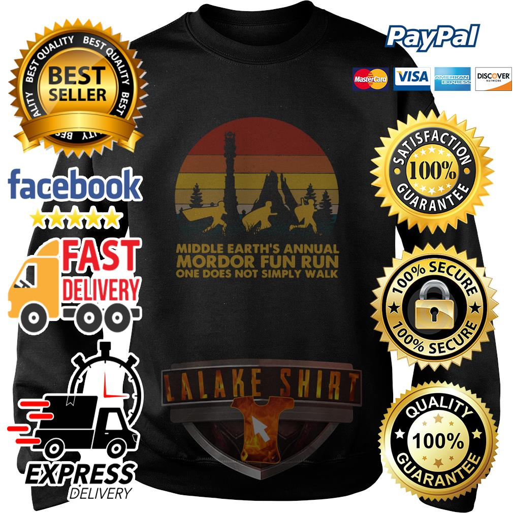 Middle earth_s annual Mordor fun run one does not simply walk sunset sweater