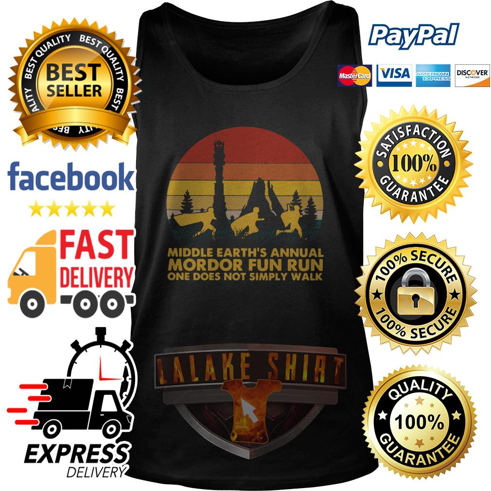 Middle earth_s annual Mordor fun run one does not simply walk sunset tank top