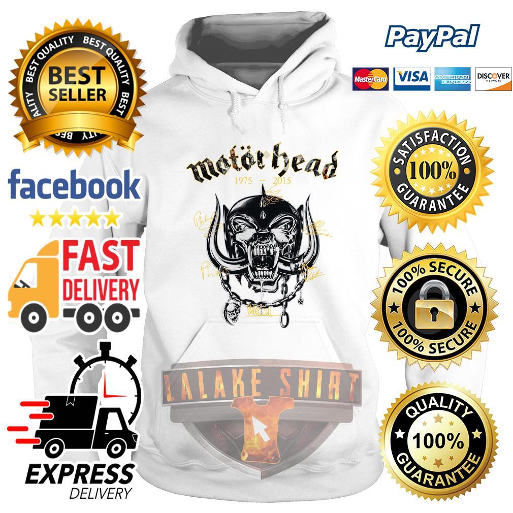 Motorhead 1975 2015 Signatures hoodie
