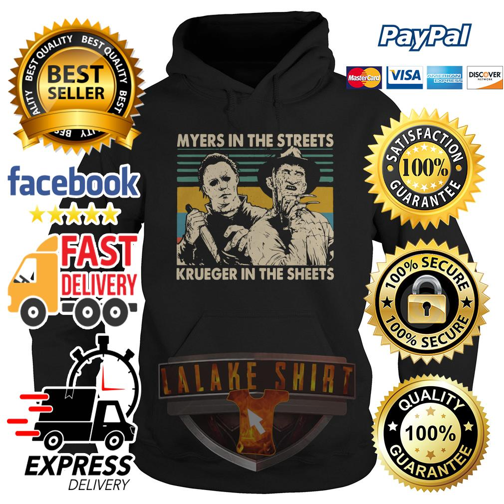Myers in the streets Krueger in the sheets vintage hoodie