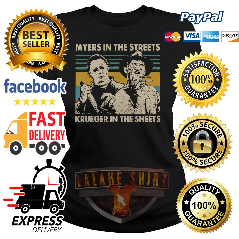 Myers in the streets Krueger in the sheets vintage ladies tee