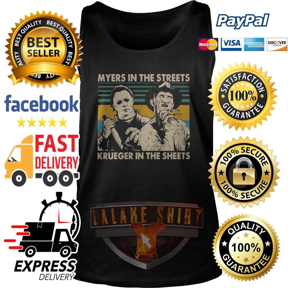 Myers in the streets Krueger in the sheets vintage tank top