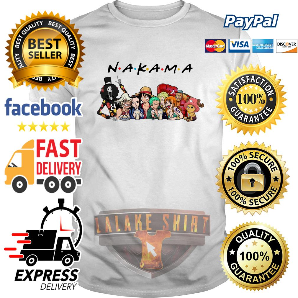 Nakama One Piece Friends tv show shirt