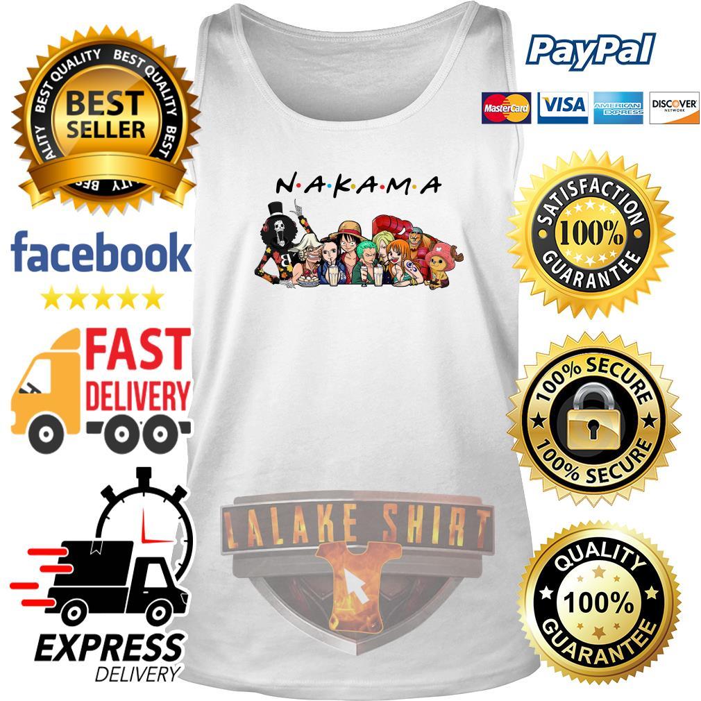 Nakama One Piece Friends tv show tank top