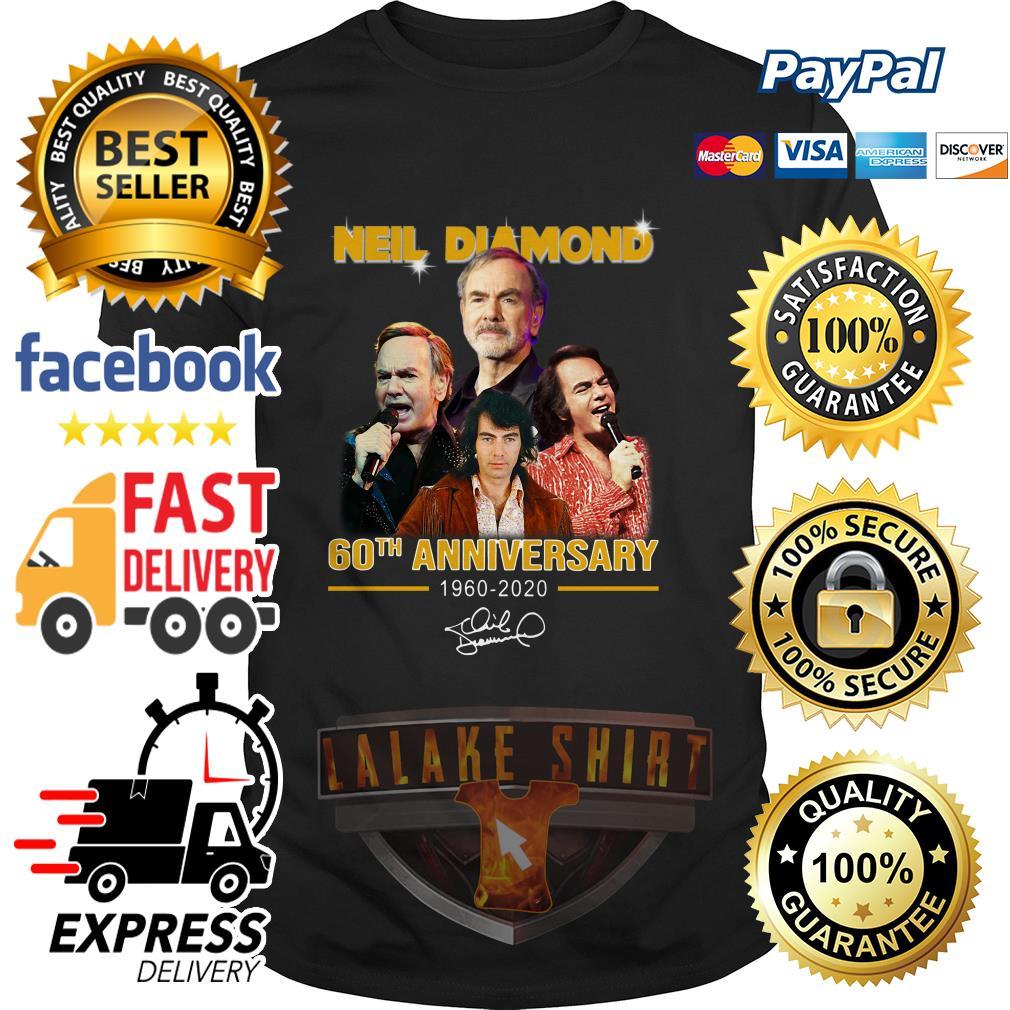 Neil Diamond 60th anniversary 1960 2020 signature shirt