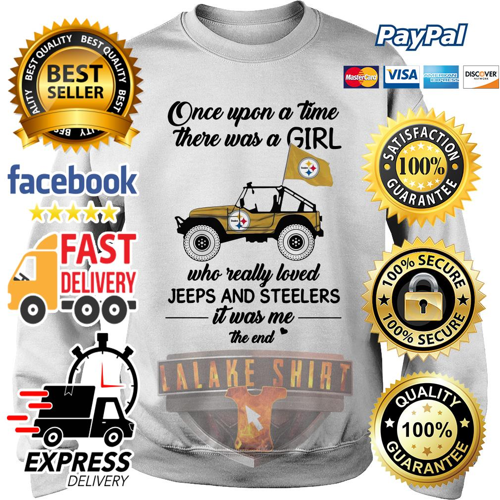Once upon a time there was a girl who really loved Jeeps and Steelers sweater