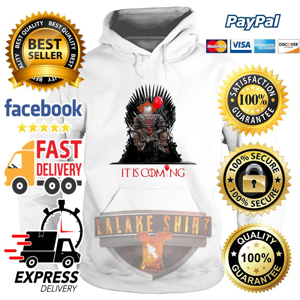 Pennywise It is coming Game of Thrones Halloween hoodie