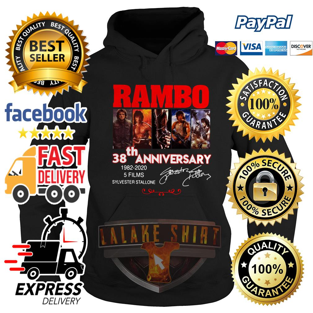 Rambo 38th anniversary 1982 2020 5 films Sylvester Stallone Hoodie