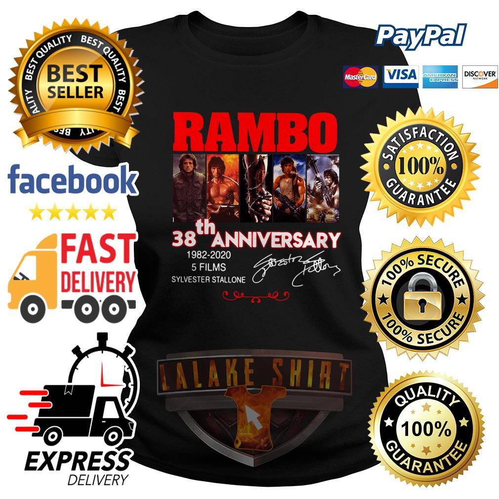 Rambo 38th anniversary 1982 2020 5 films Sylvester Stallone Ladies Tee