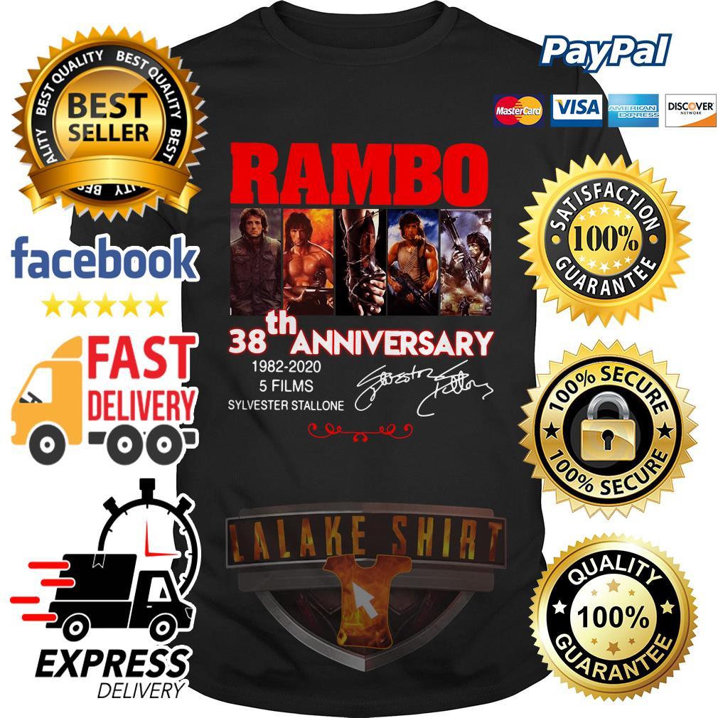Rambo 38th anniversary 1982 2020 5 films Sylvester Stallone shirt