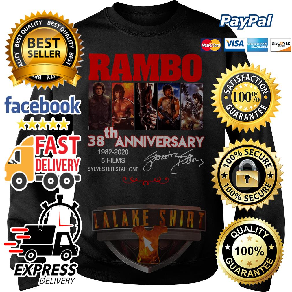 Rambo 38th anniversary 1982 2020 5 films Sylvester Stallone Sweater