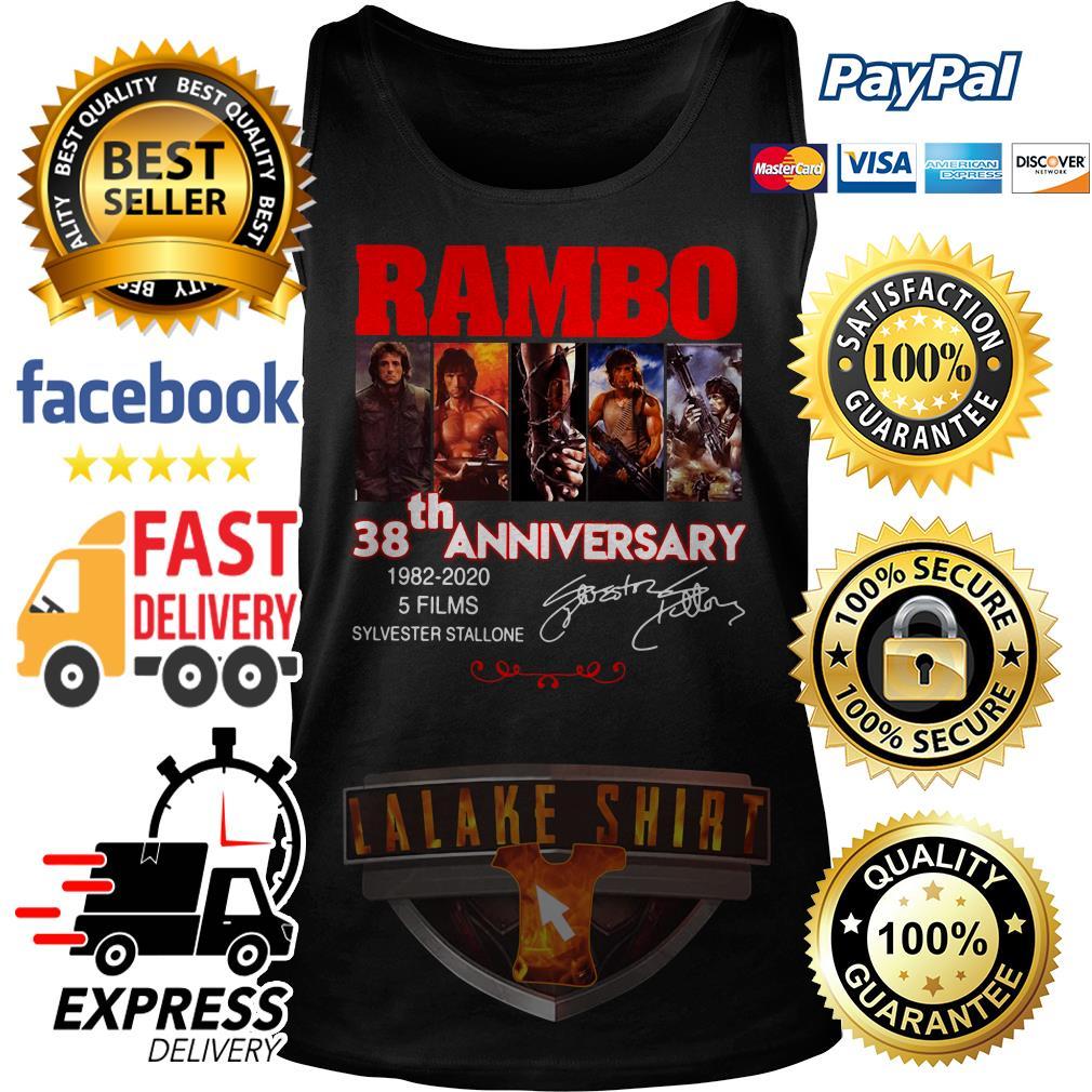 Rambo 38th anniversary 1982 2020 5 films Sylvester Stallone Tank Top