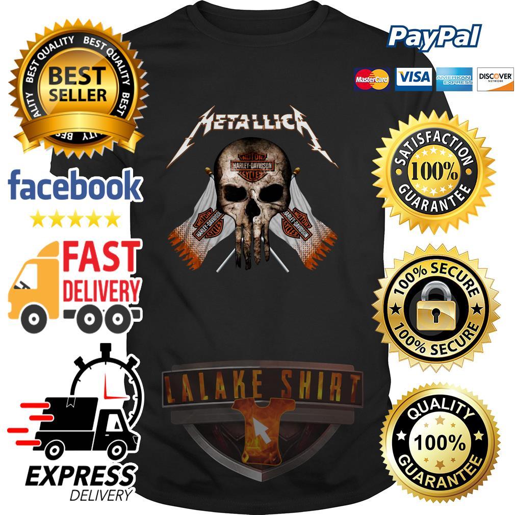 Skull Metallica Motor Harley Davidson cycles shirt