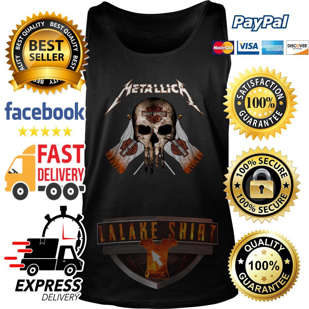 Skull Metallica Motor Harley Davidson cycles tank top