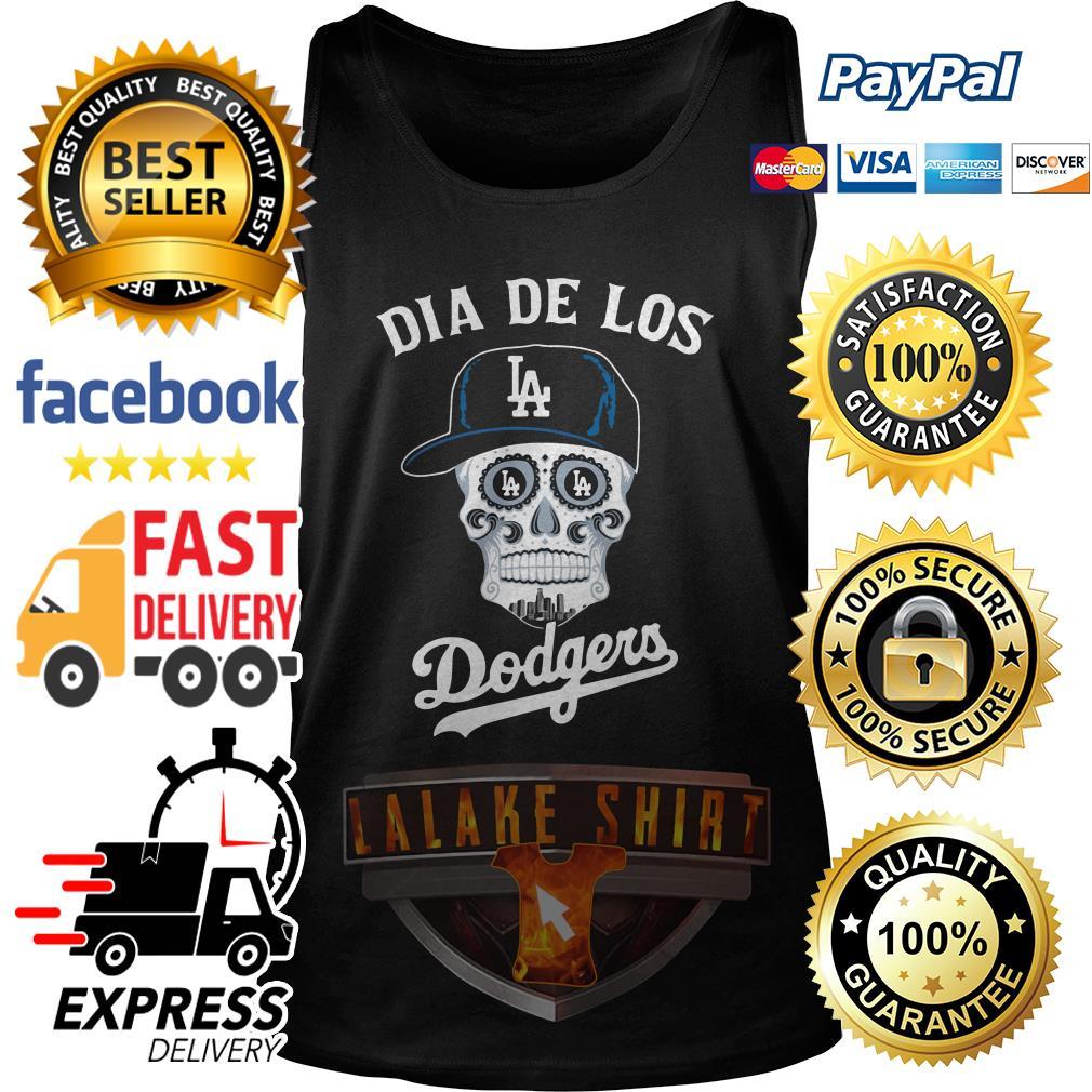 Skull dia de Los Angeles Dodgers tank top