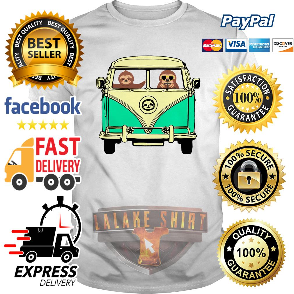 Sloths riding Campervan Bus shirt