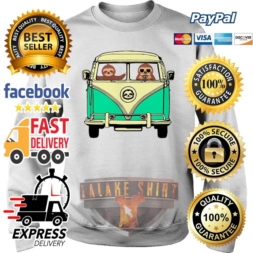 Sloths riding Campervan Bus sweater