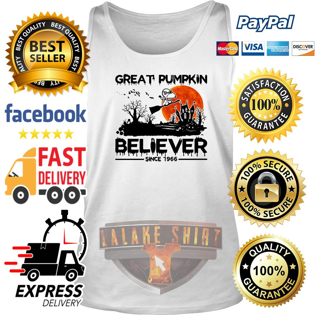 Snoopy Great pumpkin believer since 1966 Halloween tank top