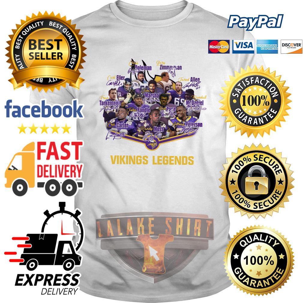 Team Minnesota Vikings legends signature shirt