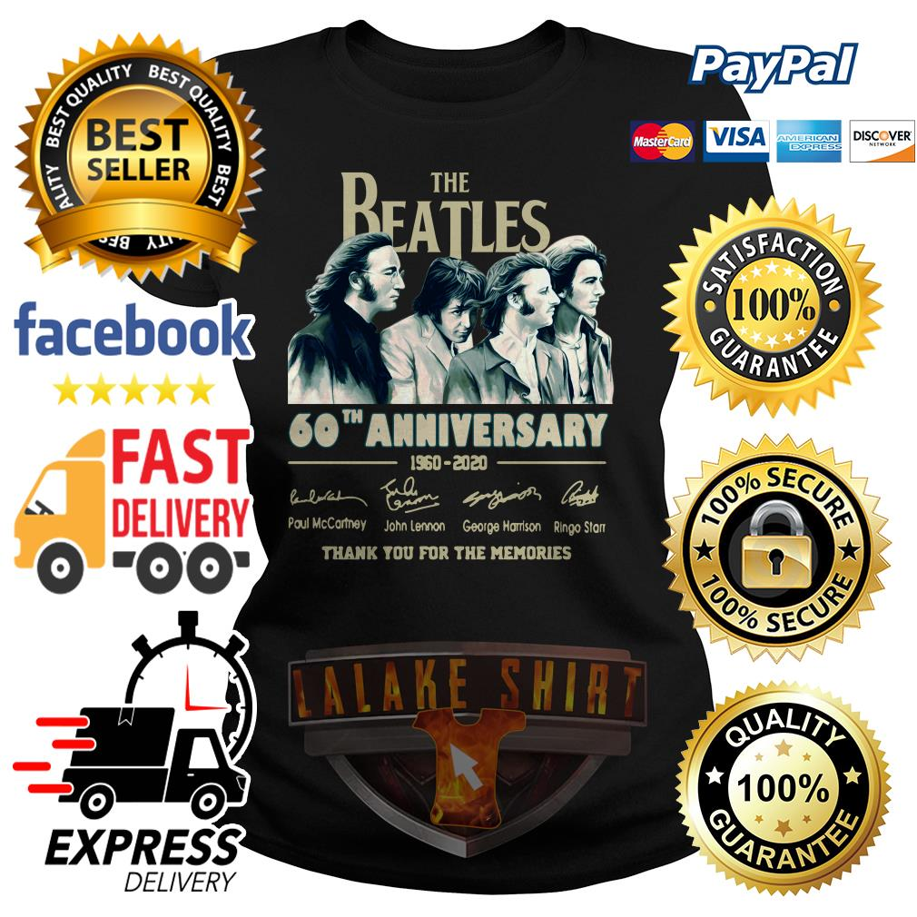 The Beatles 60th anniversary 1960 2020 thank you for the memories ladies tee