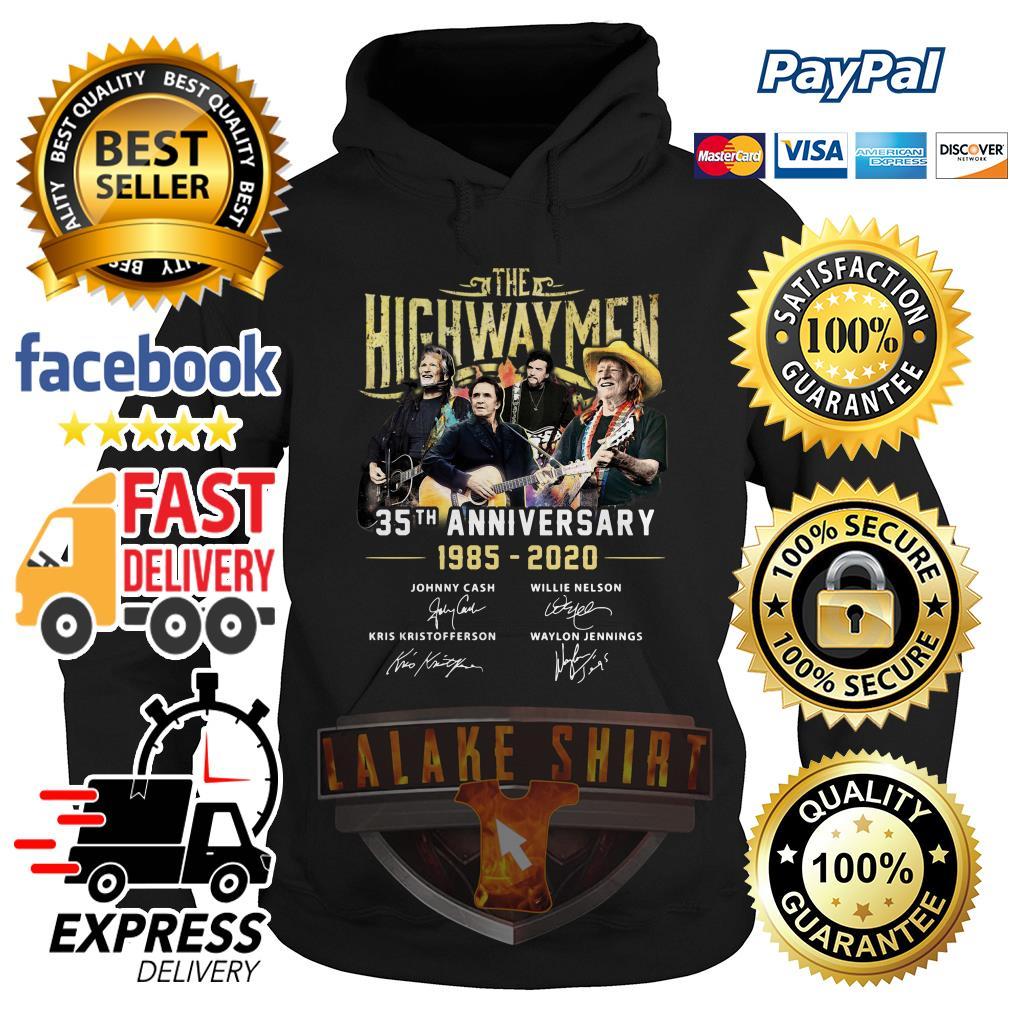 The Highwaymen 35th anniversary 1985 2020 signature hoodie