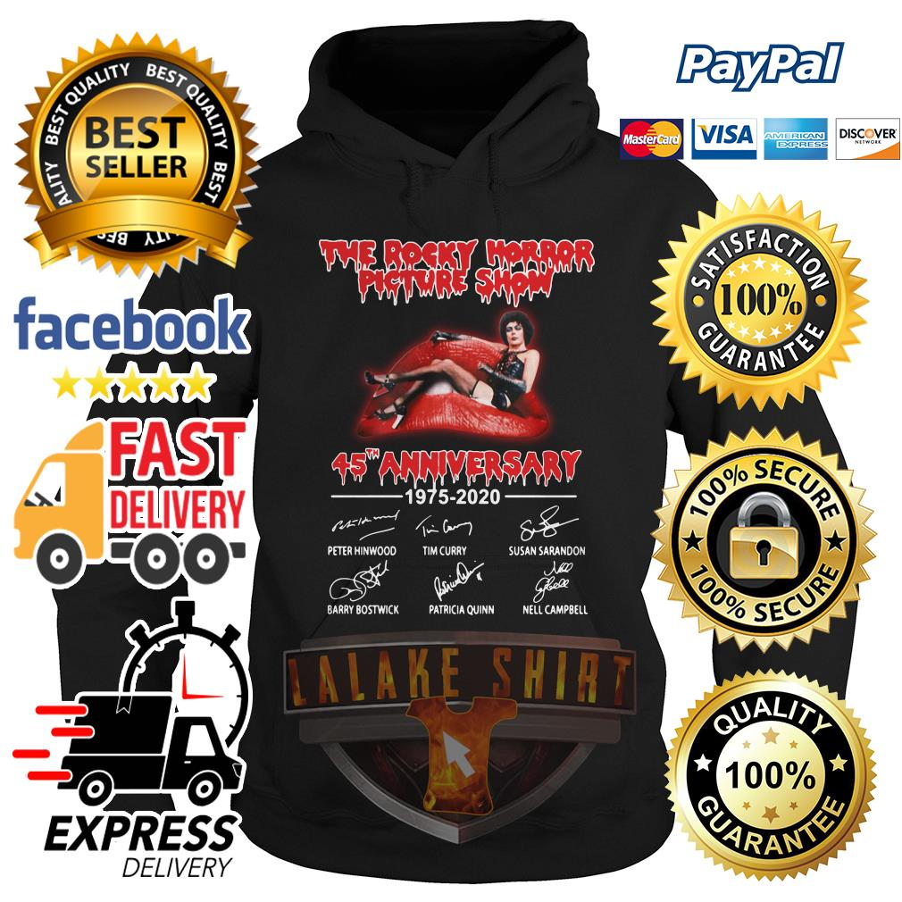 The rocky horror picture show 45th anniversary 1975 2020 signature hoodie