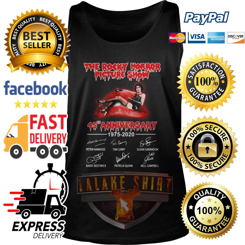 The rocky horror picture show 45th anniversary 1975 2020 signature tank top