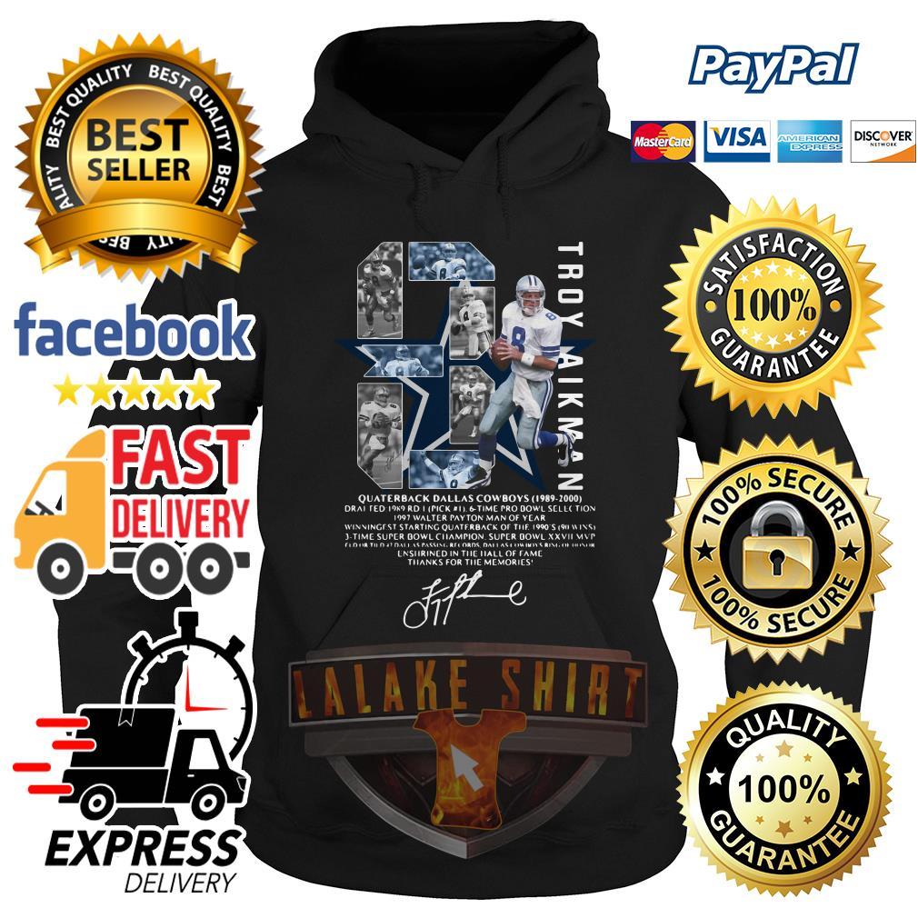 Troy Aikman 8 Quarterback Dallas Cowboys signature hoodie
