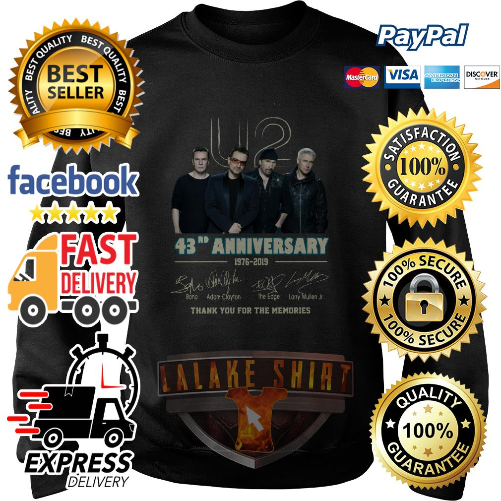 U2 43RD anniversary 1976 2019 thank you for the memories sweater