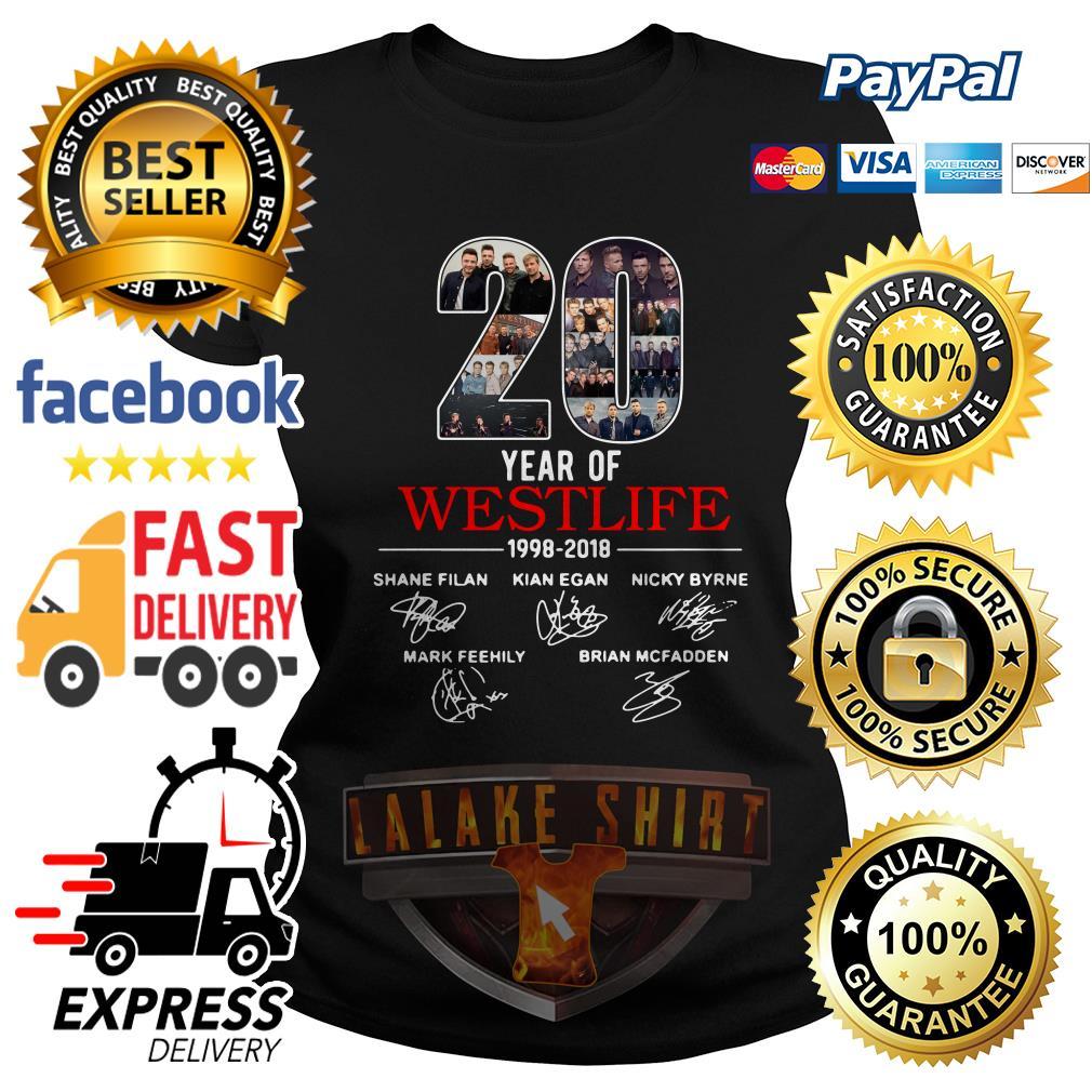 20 years of Westlife 1998 2018 signature Ladies Tee