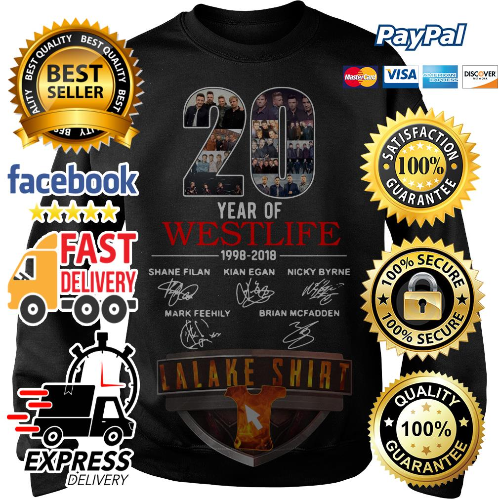 20 years of Westlife 1998 2018 signature Sweater