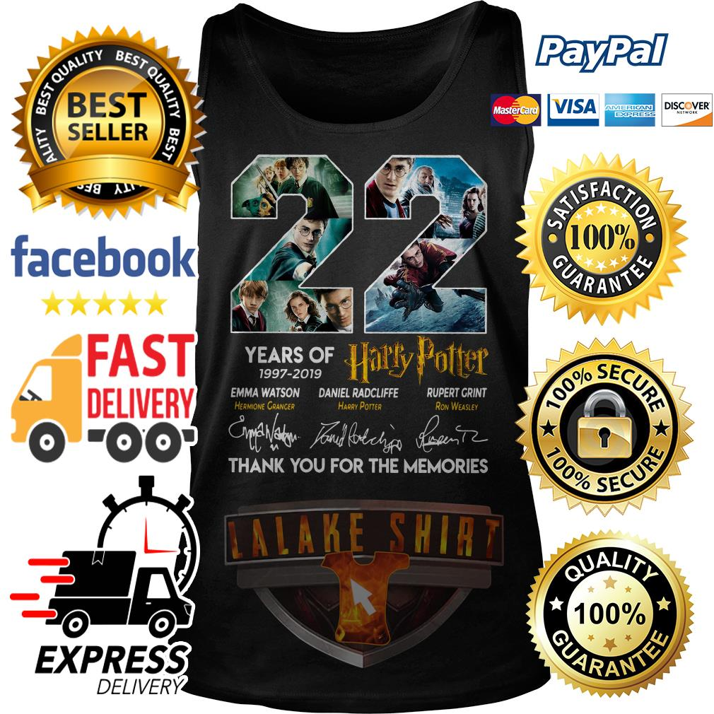 22 years of 1997 2019 Harry Potter thank you for the memories Tank Top