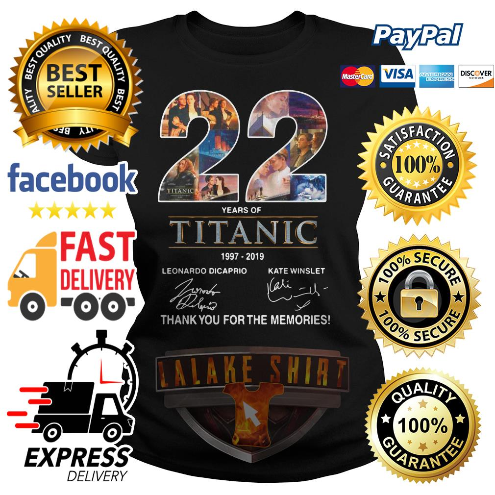 22 years of Titanic 1997 2019 thank you for the memories ladies tee