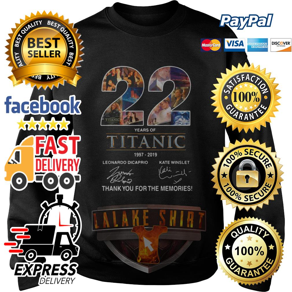 22 years of Titanic 1997 2019 thank you for the memories sweater