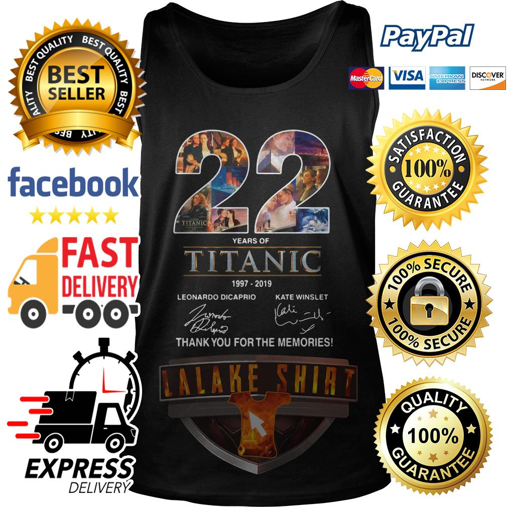22 years of Titanic 1997 2019 thank you for the memories tank top