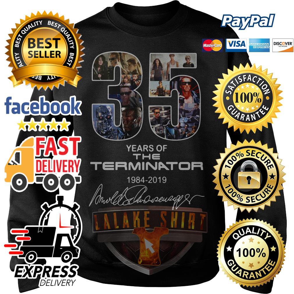 35 years if the Terminator 1984 2019 signature Sweater