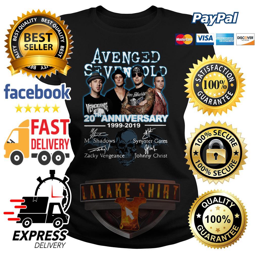 Avenged Sevenfold 20th anniversary 1999 2019 signature ladies tee